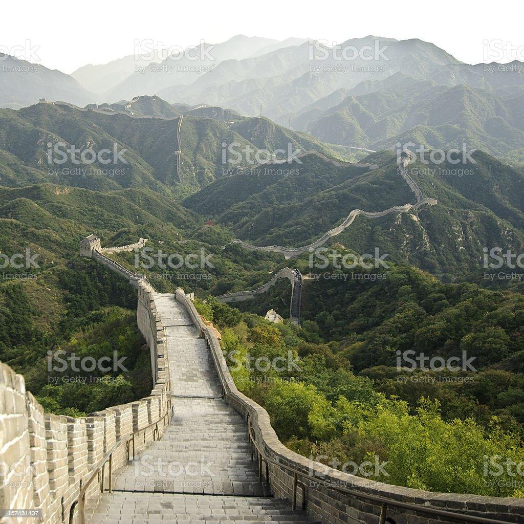 Great Wall of China at Badaling stock photo