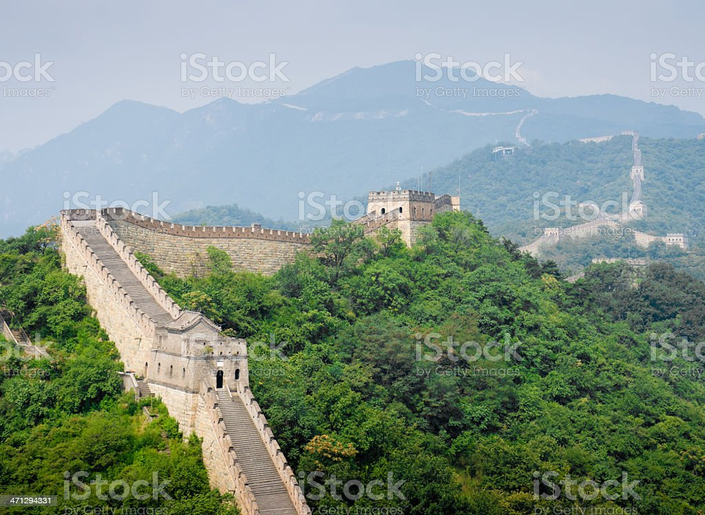 Great Wall of China at Mutianyu royalty-free stock photo