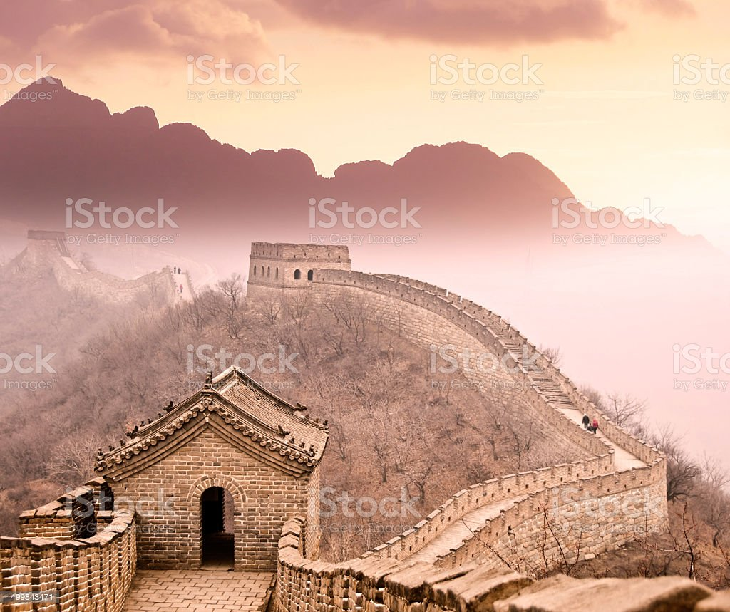 Great wall of China, Beijing stock photo