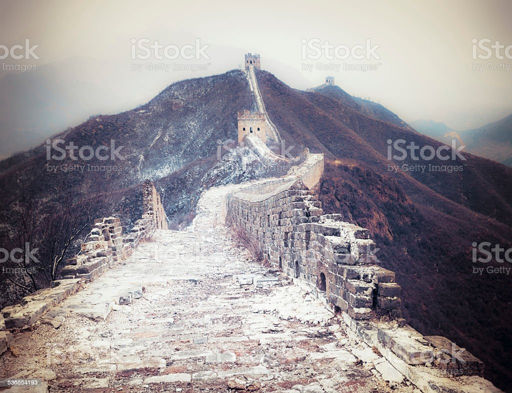 Great Wall of China between Jinshanling and Simatai stock photo