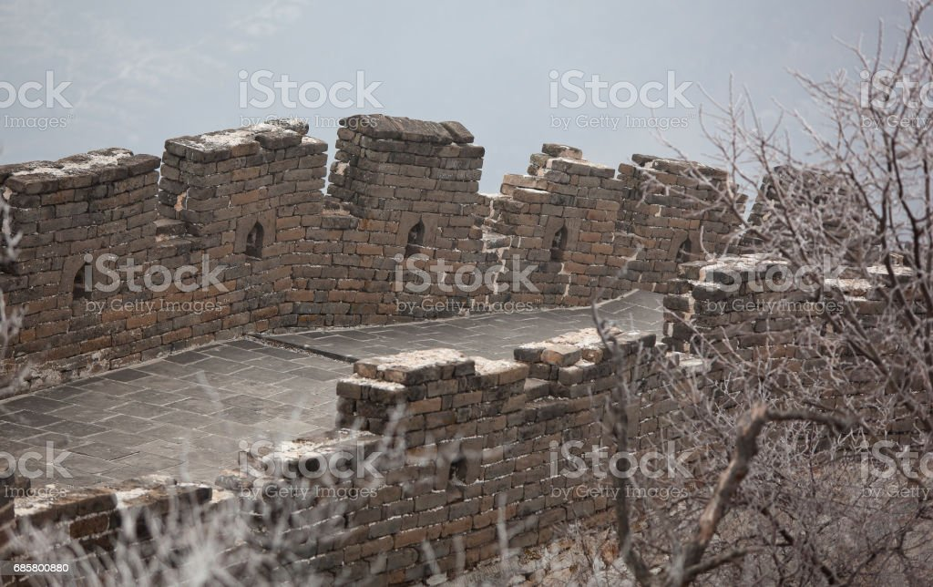Great Wall of China Detail stock photo