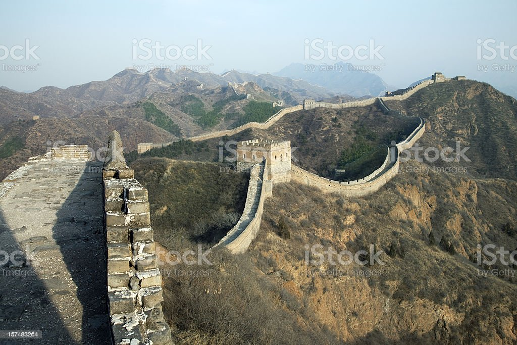Great Wall of China in Jinshanlin stock photo