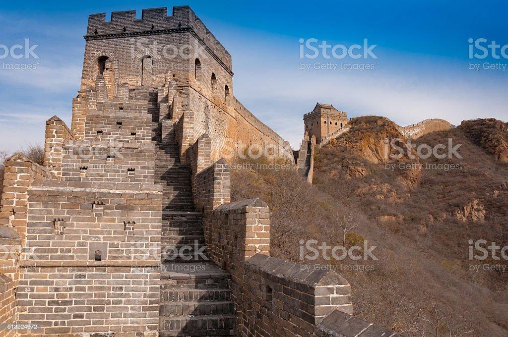 Great wall of china in jinshanling stock photo