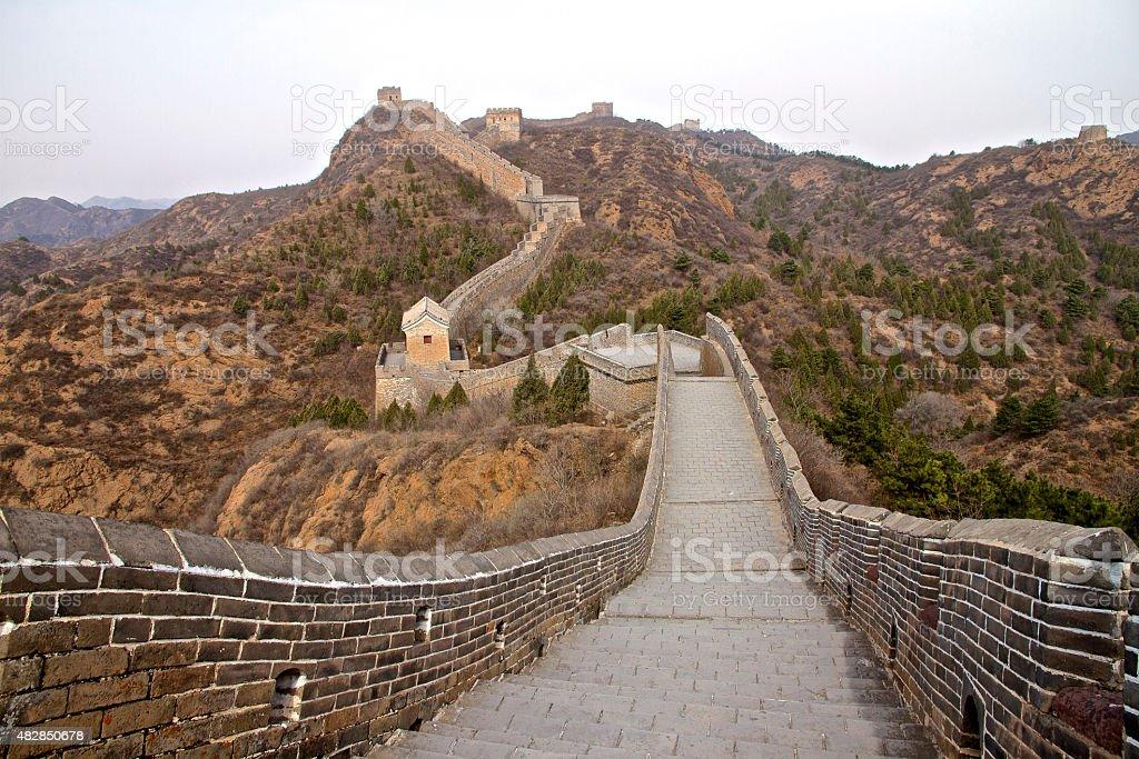 Great Wall of China - Jinshanling stock photo