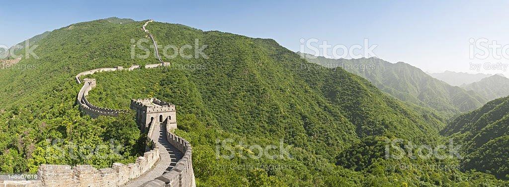 Great Wall of China Mutianyu panorama royalty-free stock photo