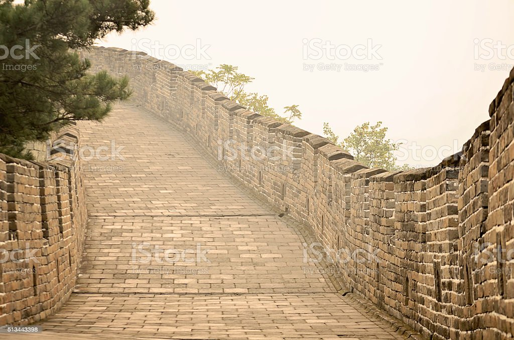 Great Wall of China, Mutianyu section stock photo