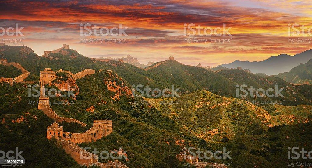 Great wall of china royalty-free stock photo