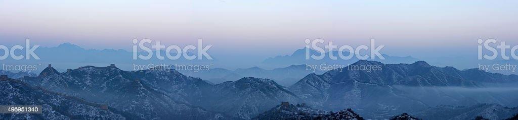 Great Wall of Jinshanling stock photo