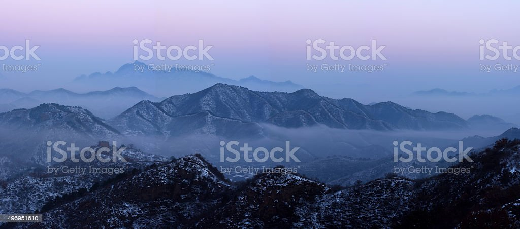 Great Wall of Jinshanling stock photo