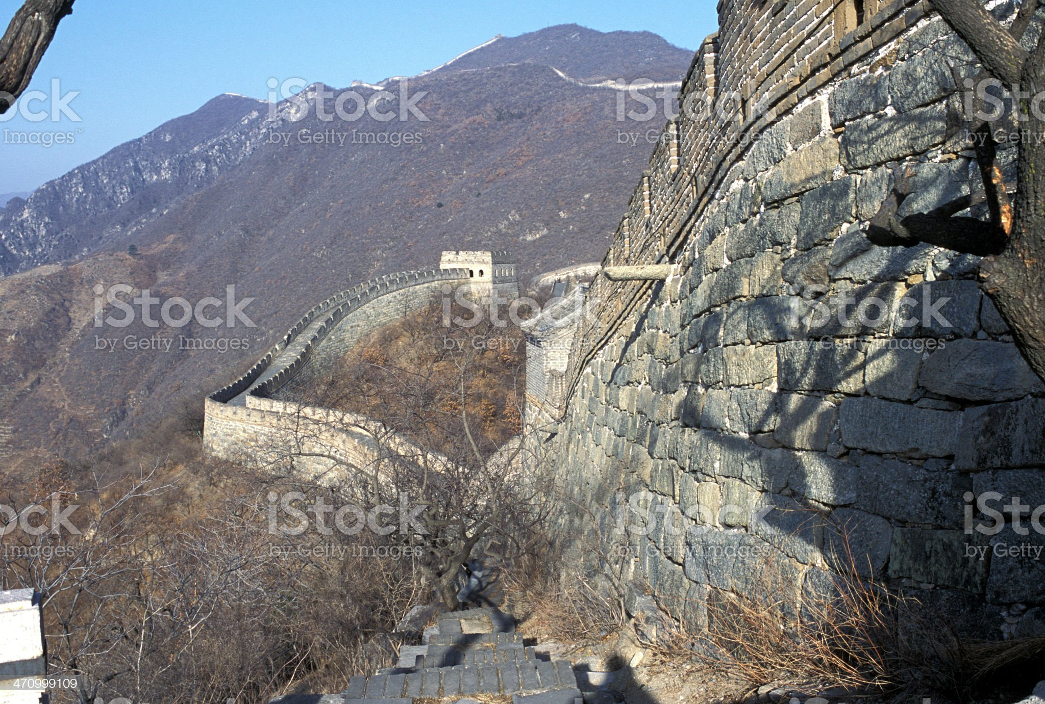 Great Wall Side royalty-free stock photo