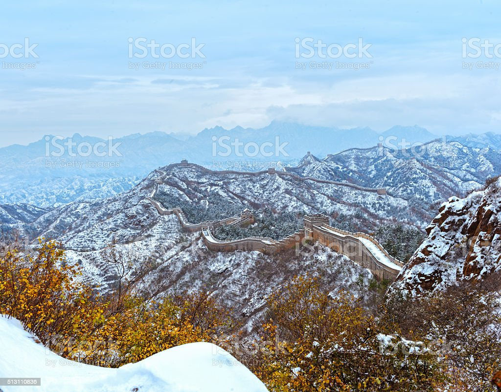 great wall the landmark of china and beijing stock photo