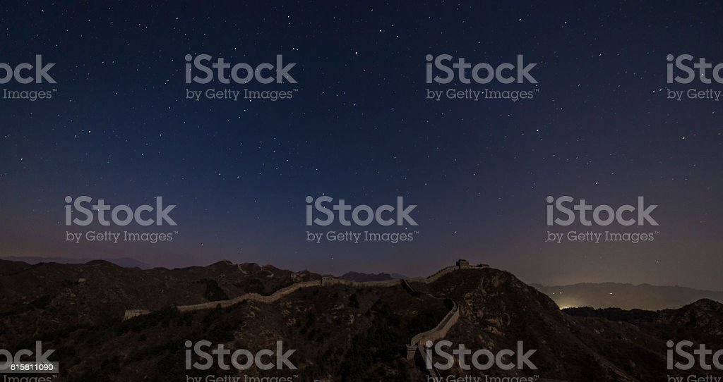 Great Wall under the stars