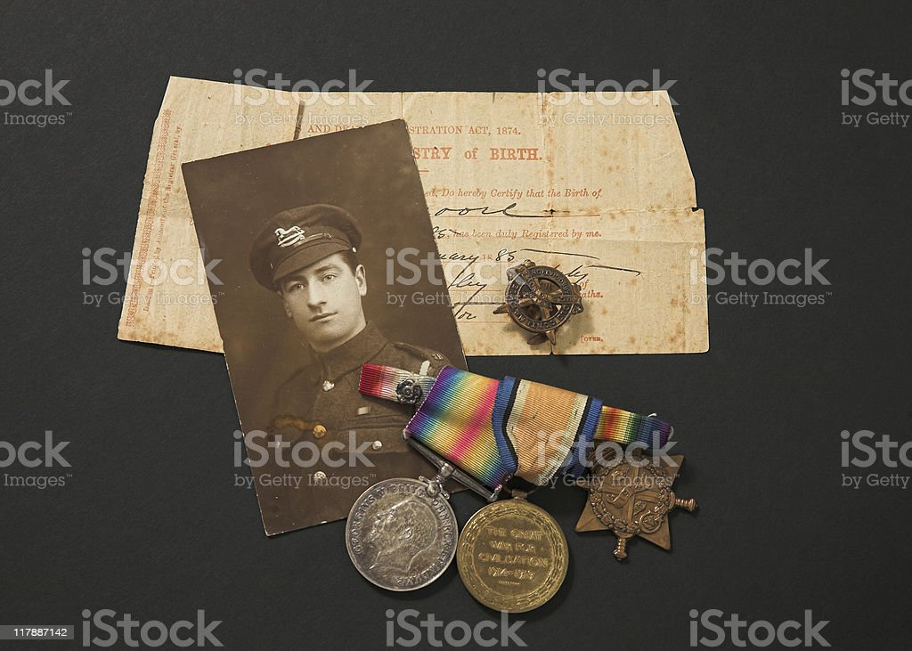 Great War Memorabilia stock photo