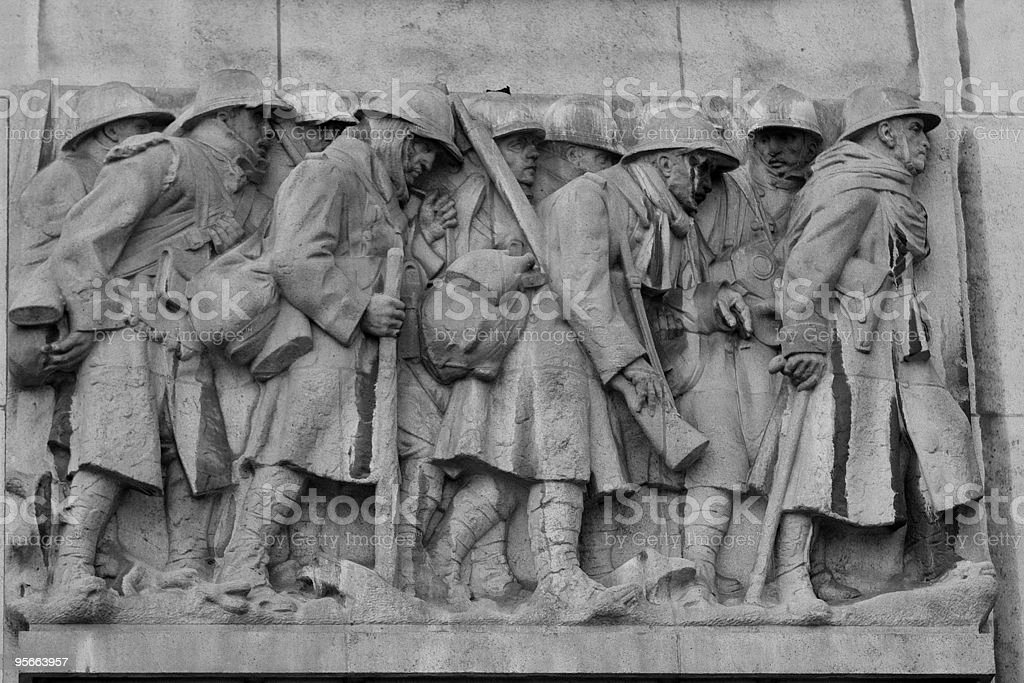 Great War memorial in Lille royalty-free stock photo