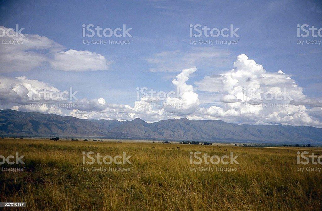 Great Western Rift Valley Clouds Escarpment Virunga National Park Congo stock photo