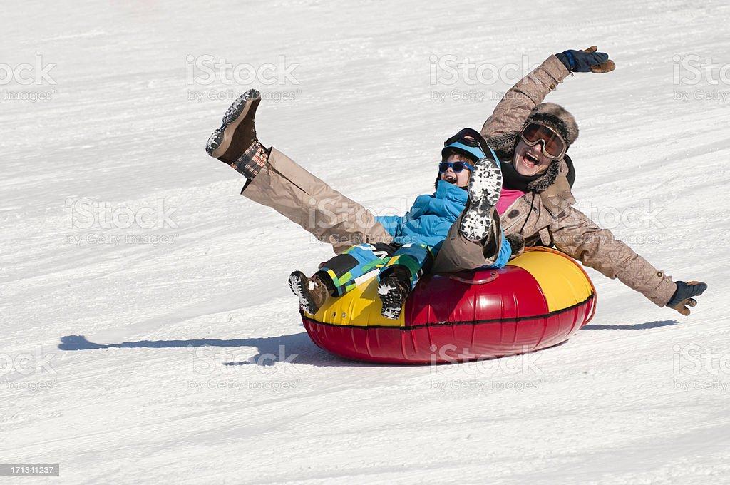 Great winter fun stock photo