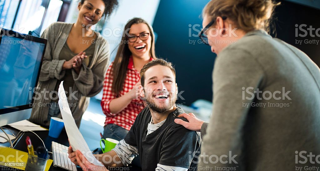 Great work! stock photo