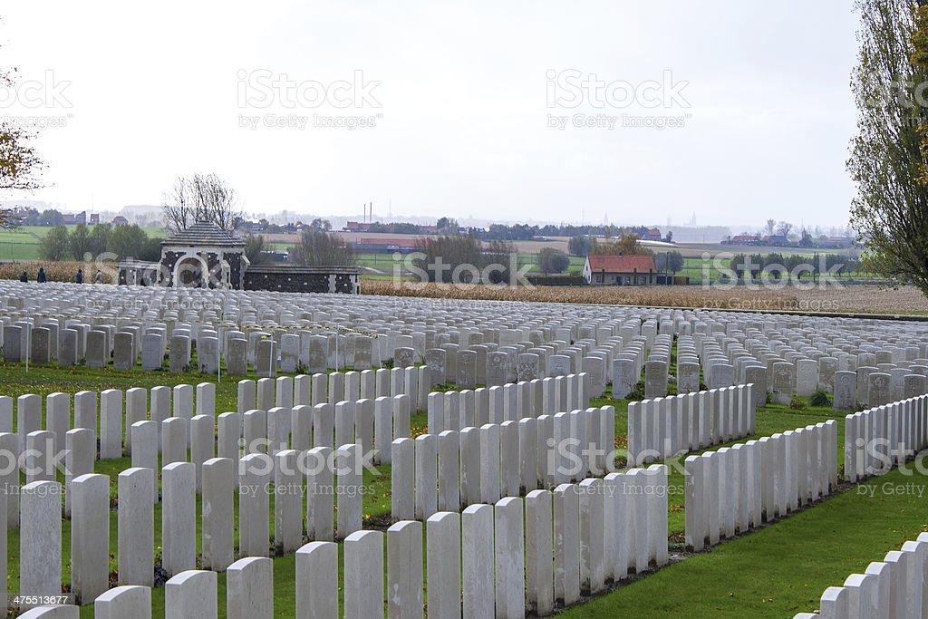 Great world war 1  flanders fields belgium Cemetery stock photo