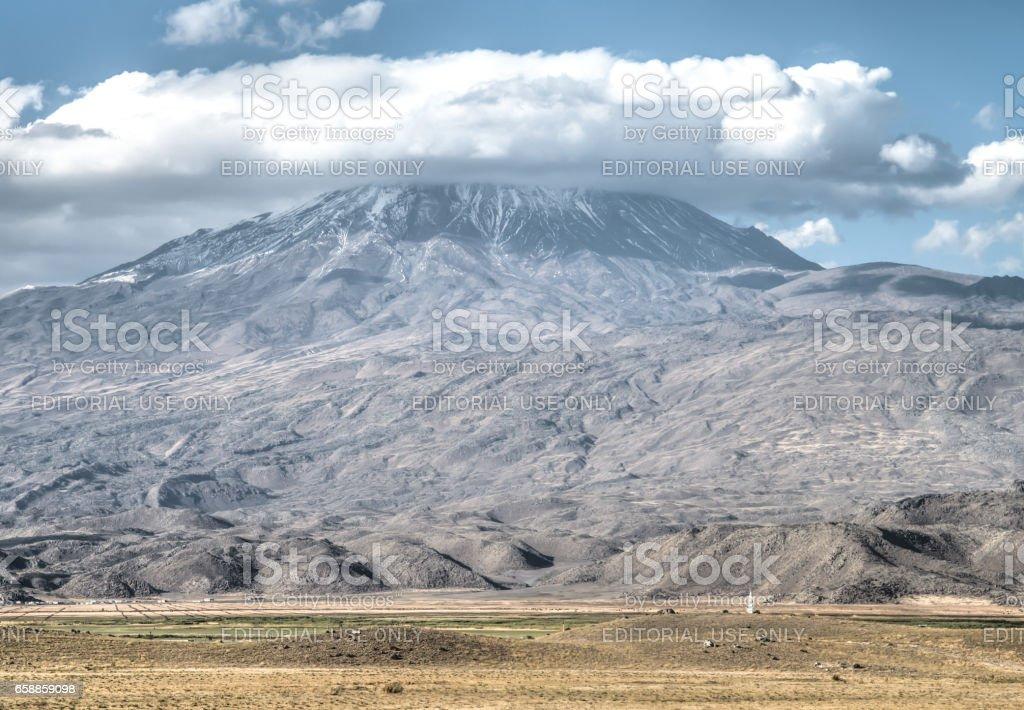 Greater Mount Ararat (Agri Dagi)  in Agri, Turkey stock photo