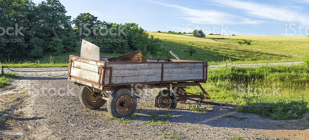 Great-grandfather cart royalty-free stock photo