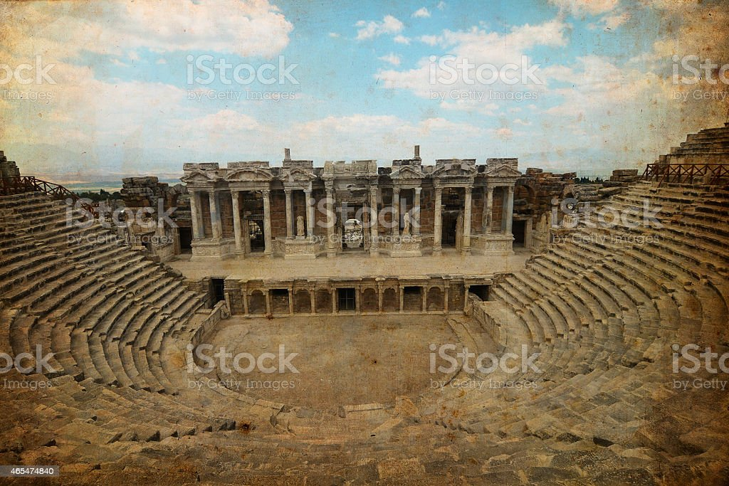 Greco-Roman Amphitheater - Hierapolis stock photo