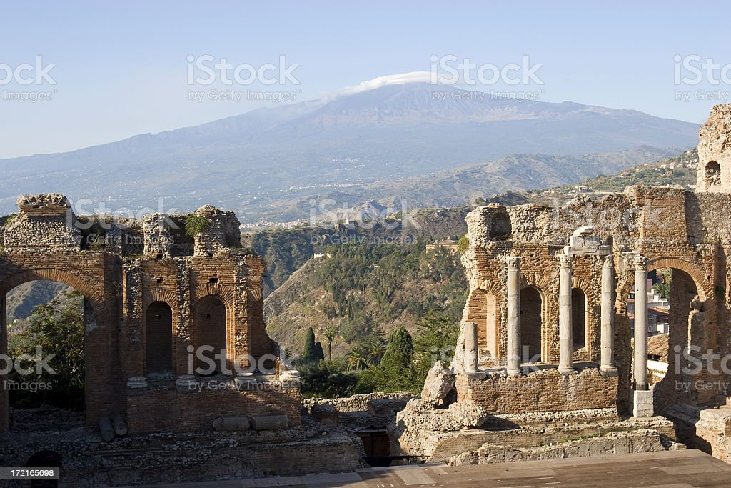 Greco-Roman amphitheatre stock photo