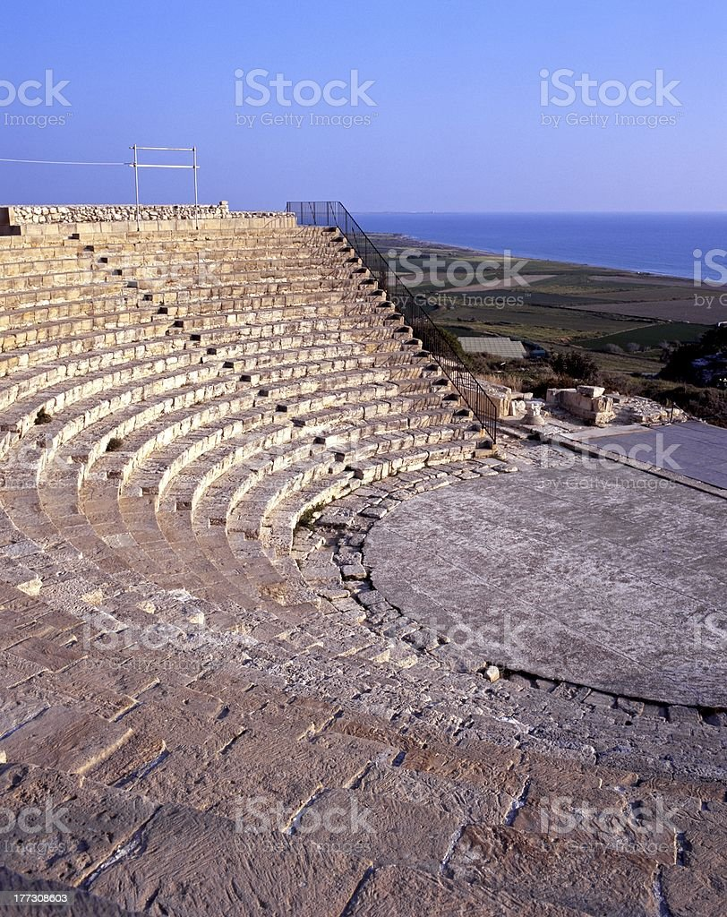 Greco-Roman Theatre, Kourion,Cyprus. stock photo