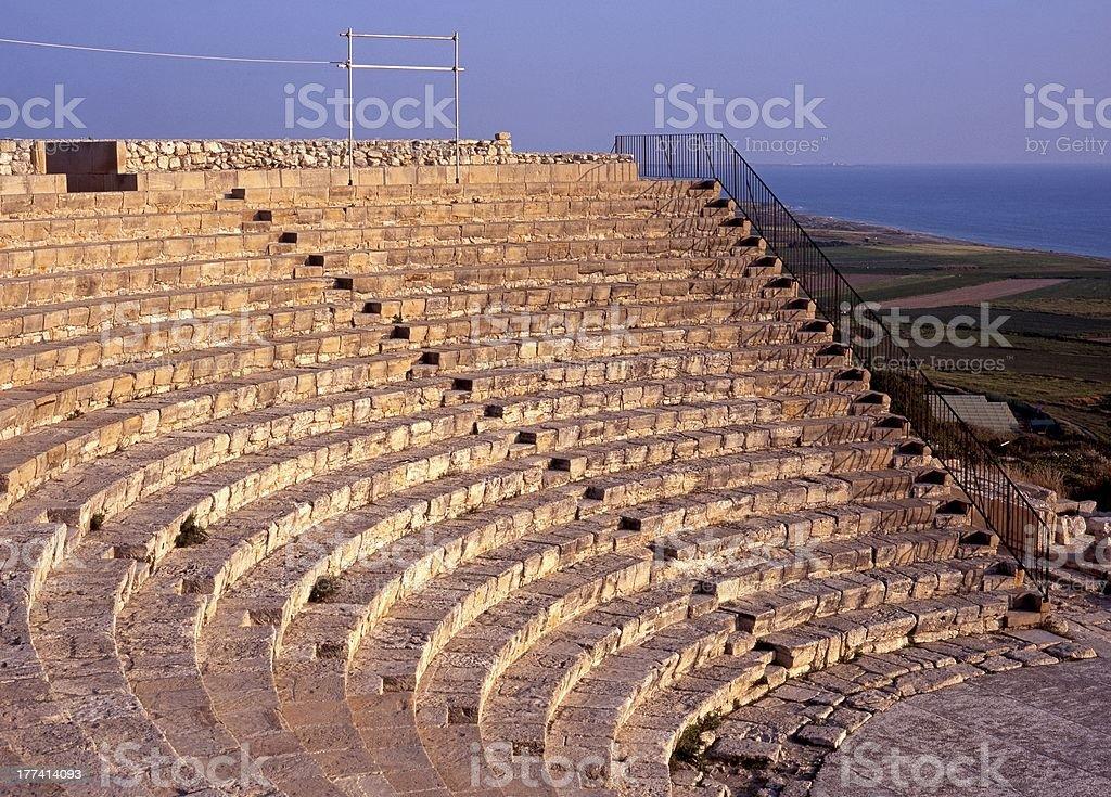 Greco-Roman Theatre, Kourion,Cyprus. royalty-free stock photo
