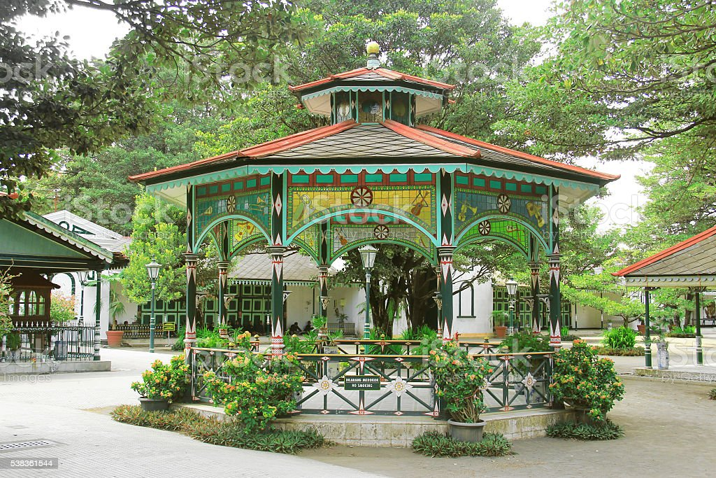 gree  pavilion in the Taman Sari stock photo