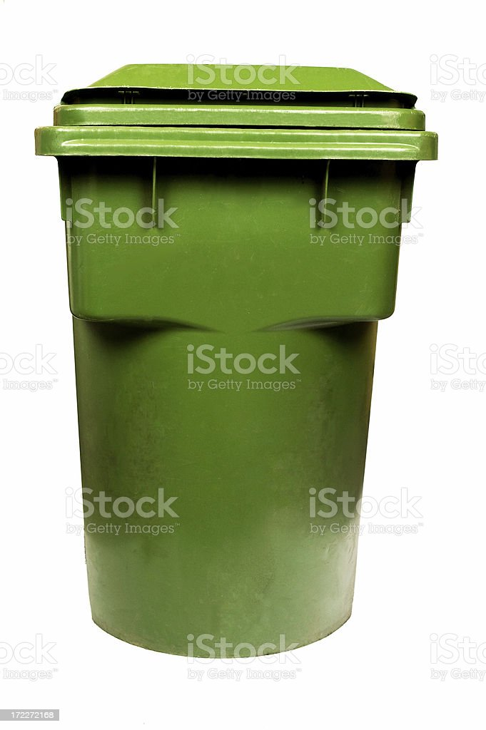 Gree Recycling Bin royalty-free stock photo