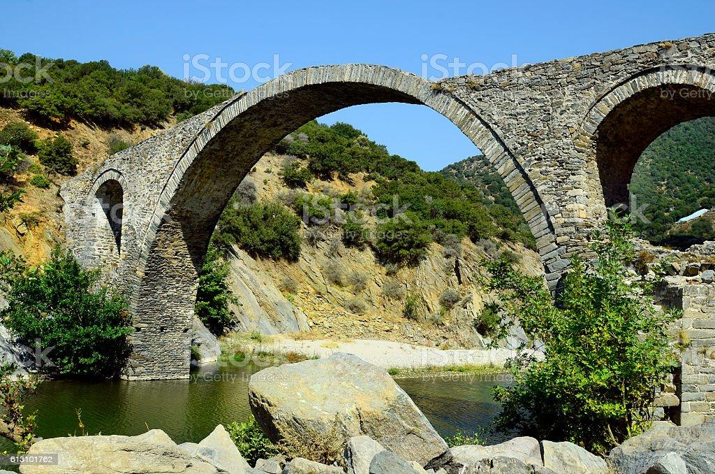 Greece, ancient bridge stock photo