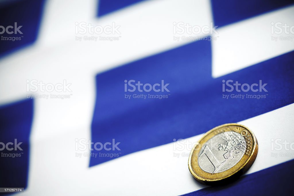 Greece and Euro curency stock photo