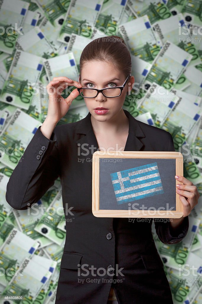 Greece and euro stock photo