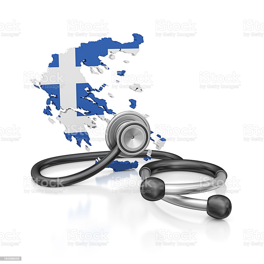 greece and stethoscope royalty-free stock photo