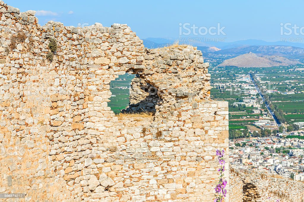 Greece - Argos town view from Larissa Castle stock photo