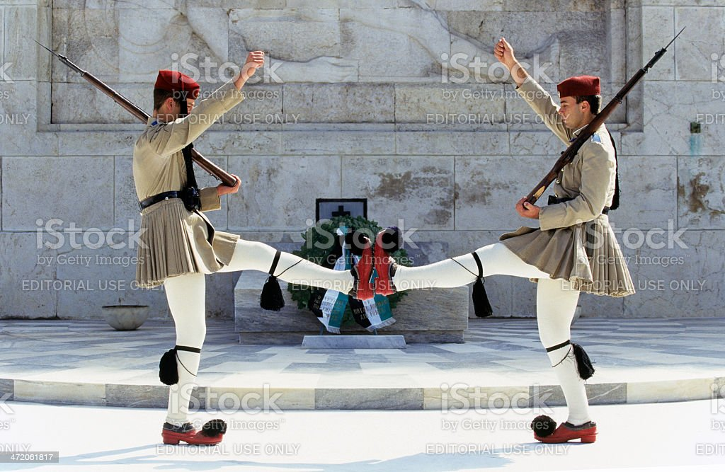 Greece, Attica, Athens, changing of the guard. stock photo