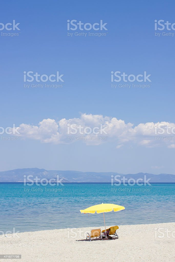 Greece beach royalty-free stock photo