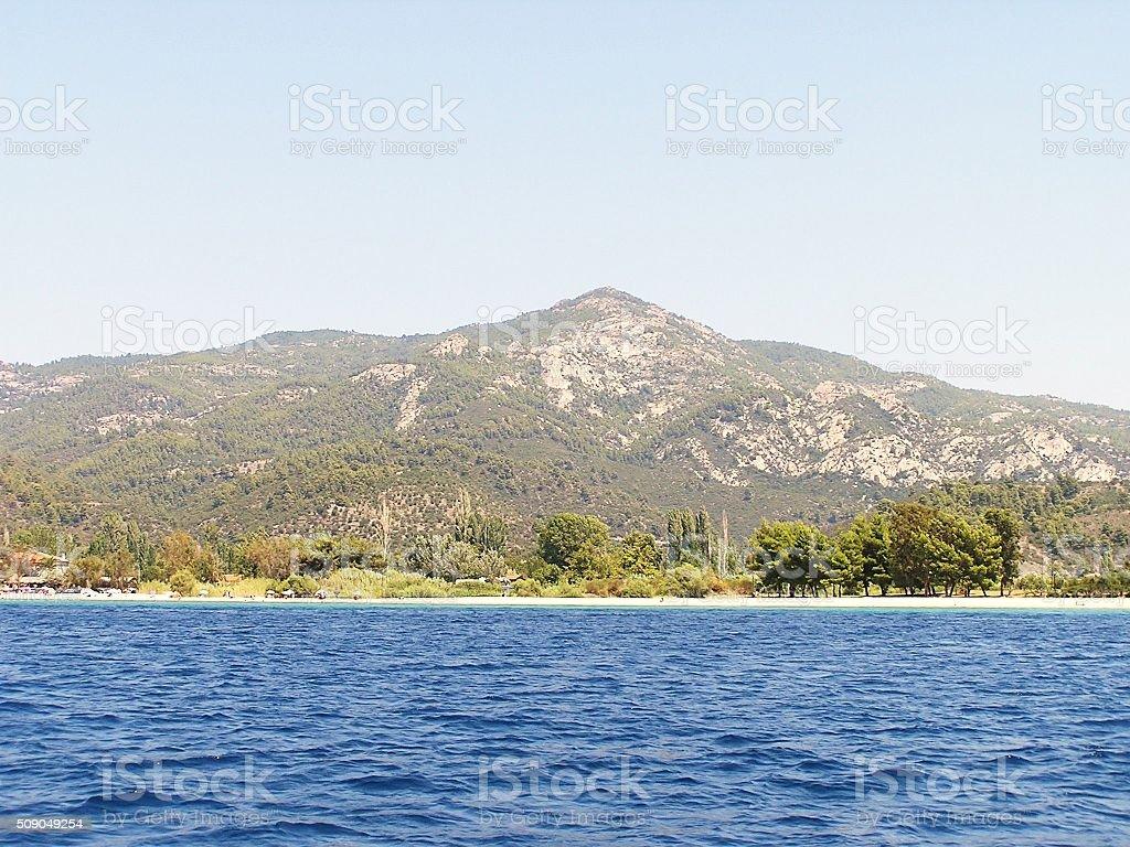 Greece, between Porto Carras and Neo Marmaras stock photo