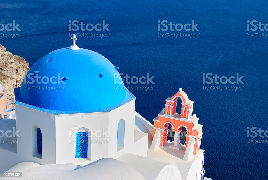 Greece blue church royalty-free stock photo