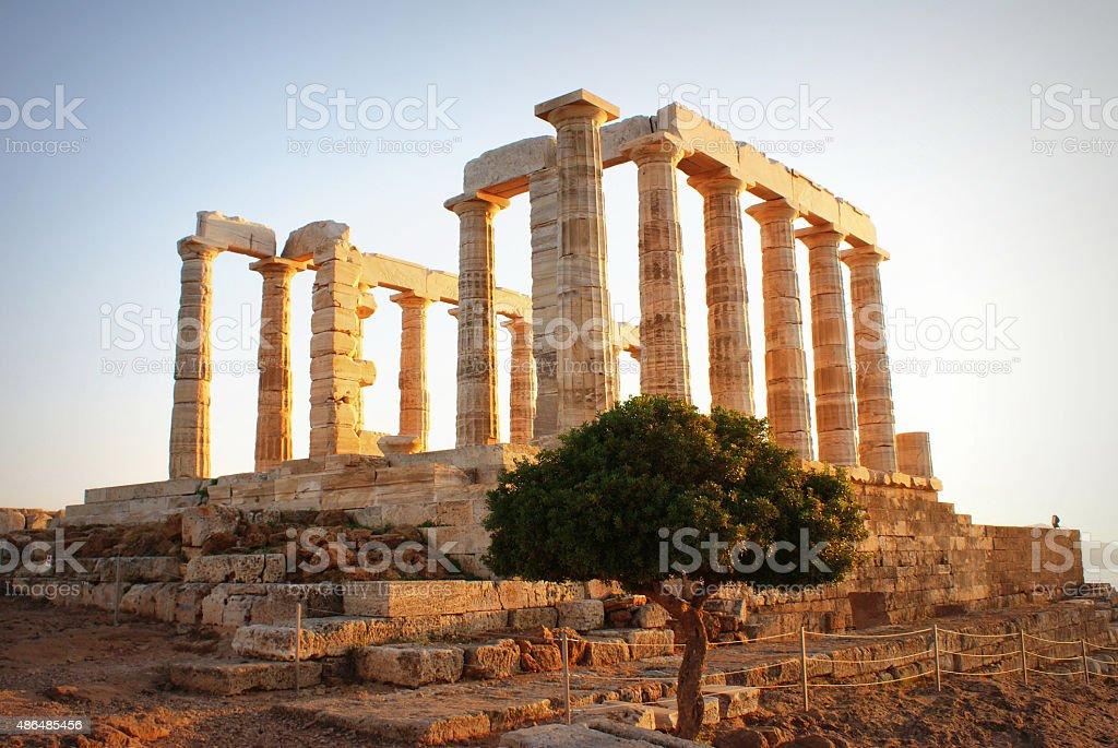 Greece. Cape Sounion - Ruins stock photo