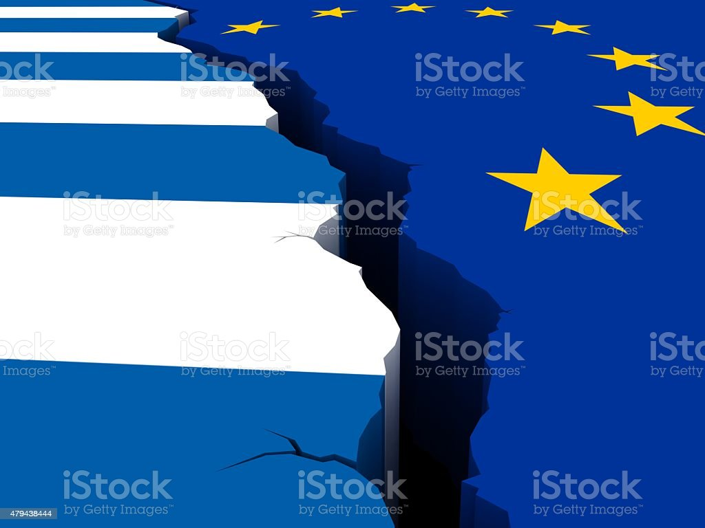 Greece crisis stock photo