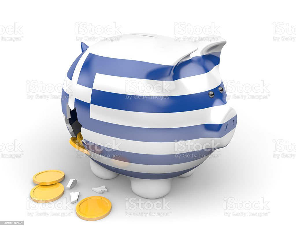 Greece economy and finance concept for poverty and national debts stock photo