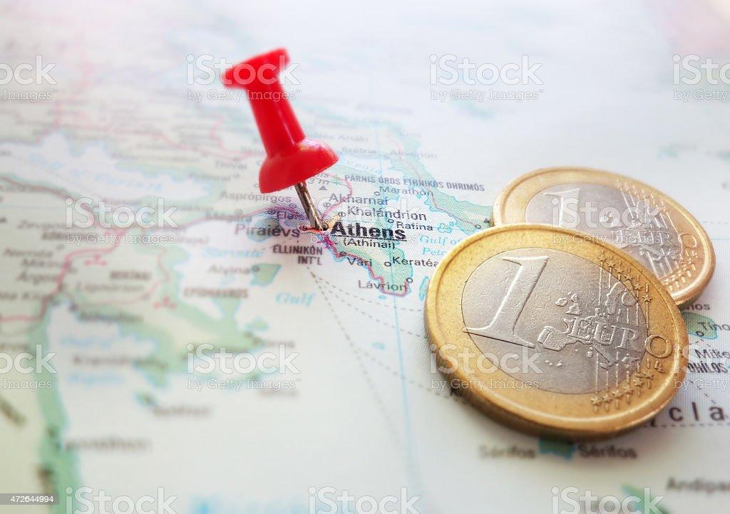 Greece Euro map stock photo