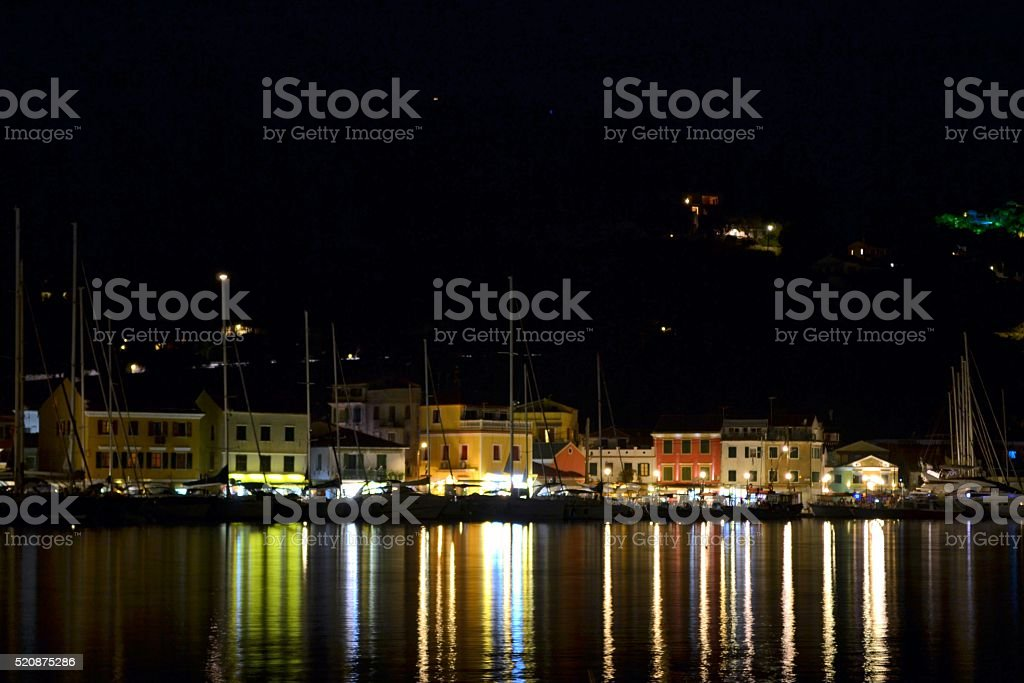 Greece, villaggio di pescatori stock photo