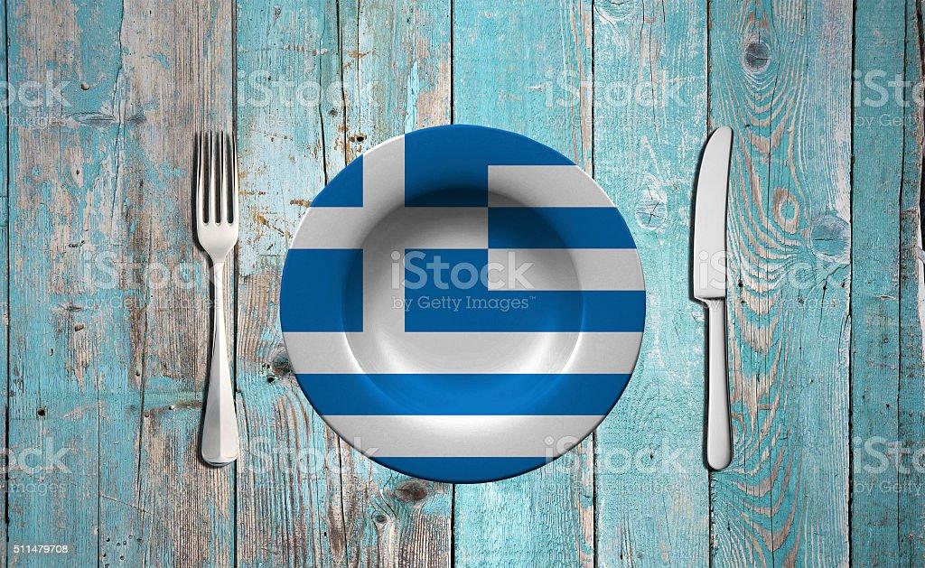 Greece flag concept stock photo