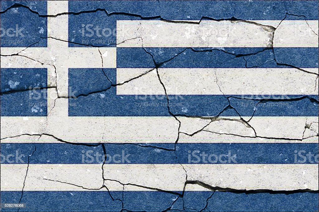 Greece flag grunge stock photo