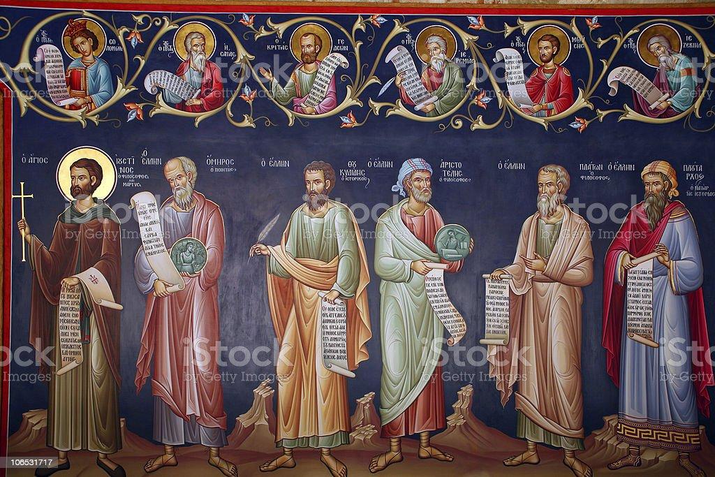Greece, fresco stock photo