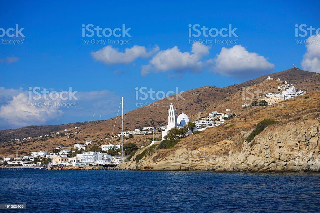 Greece   Greek island Ios  Cyclades group in the Aegean Sea stock photo