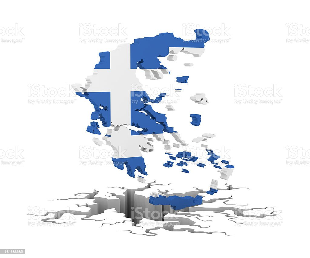 greece in recesion royalty-free stock photo