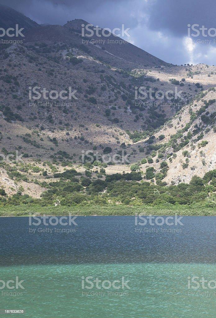 Greece, island of Crete, lake Kurnas royalty-free stock photo